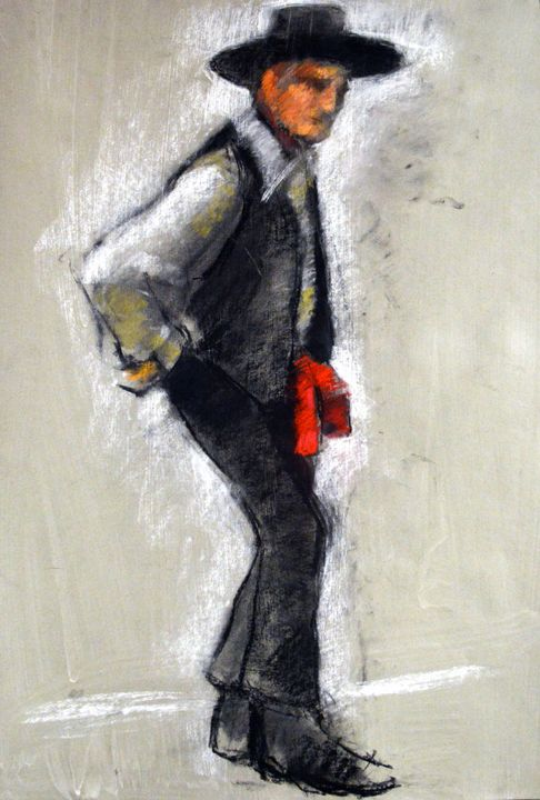 MODEL IN SPANISH COSTUME - William Pfahl-Fine Art