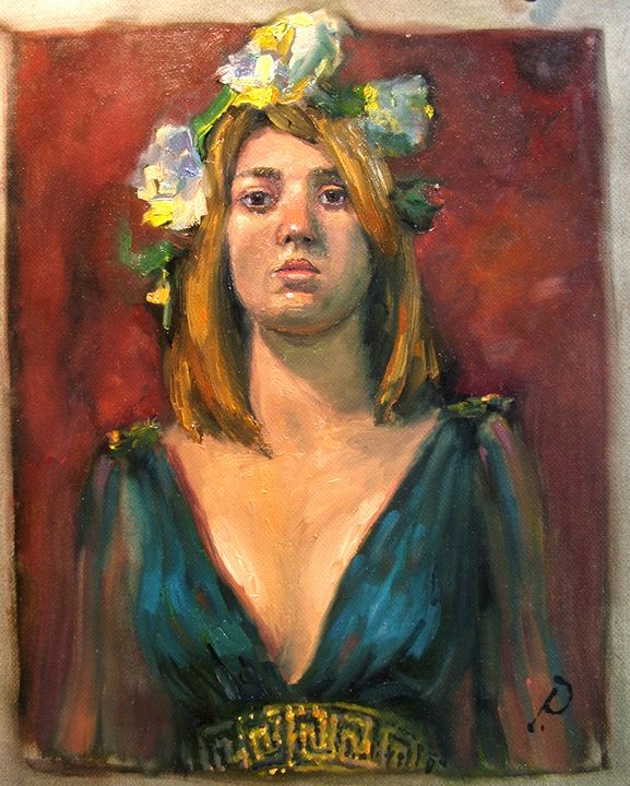 SATURDAY MODEL @ PANZA ~ GREEK GIRL. - William Pfahl-Fine Art