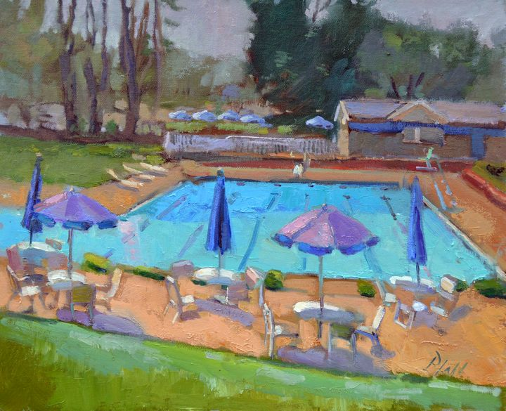 COMMUNITY SWIM CLUB SUMMER'S END III - William Pfahl-Fine Art