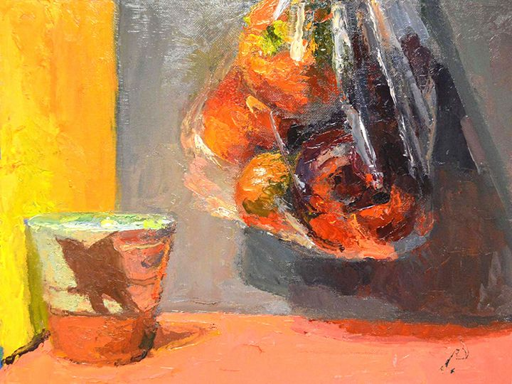 BAG OF FRUIT & CUP - William Pfahl-Fine Art