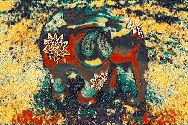 Elephant Art Print - Wall Art - Surr - World Prints Studio