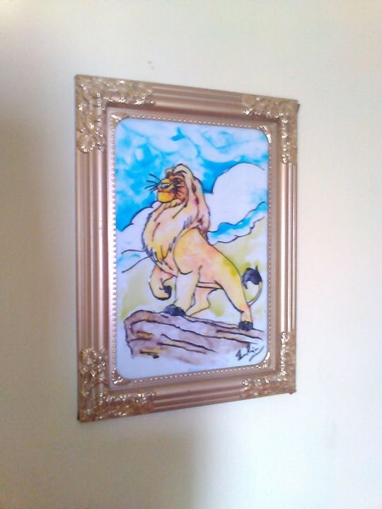 GLASS PAINTING (LION) - KNB ONLINE RETAIL