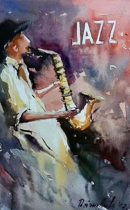 jazz musician - Radovan Vojinovic-art