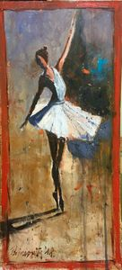 Balerina,oil on apnel, sold