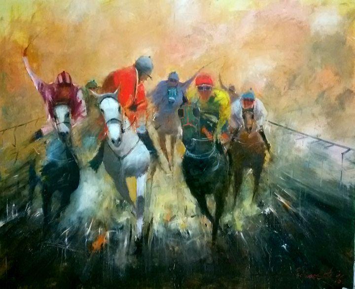 horse racing - Radovan Vojinovic-art