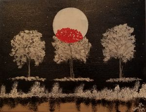 Moon Red Tree