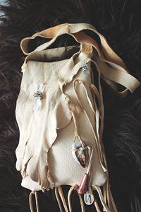 Leather Medicine bag - Vision Dancer
