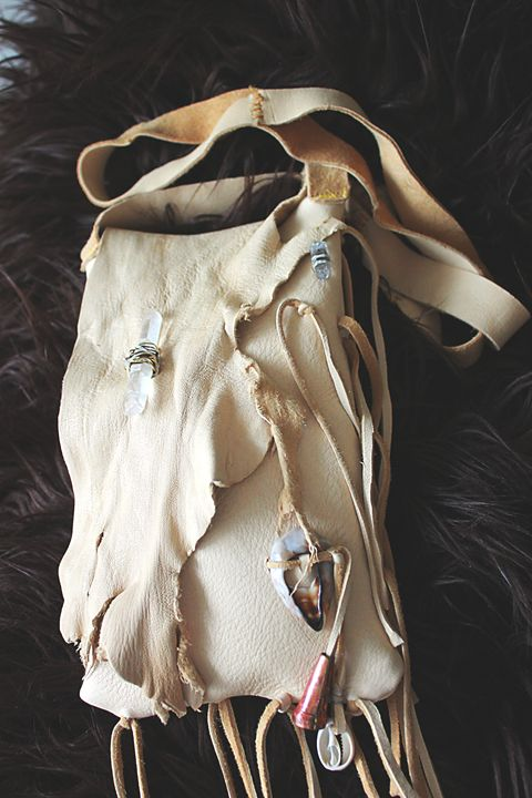 Leather Medicine bag - Vision Dancer
