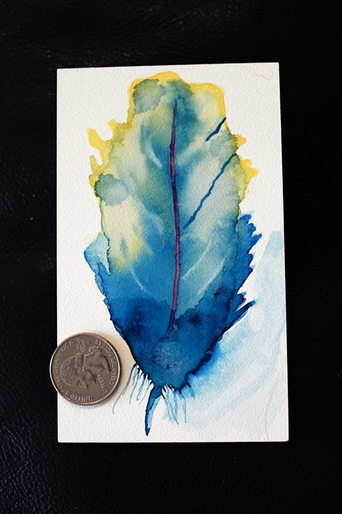 Watercolor feather - Vision Dancer