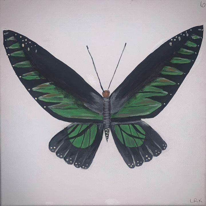 Green Butterfly - art by lo