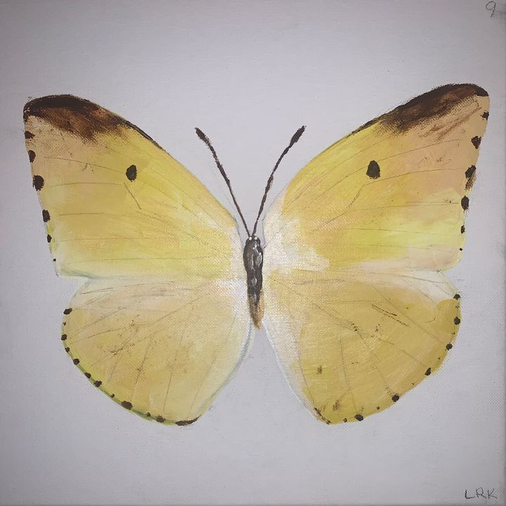 Yellow Butterfly - art by lo