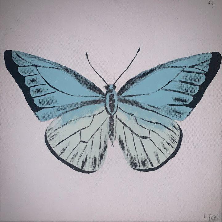 Light Blue Butterfly - art by lo