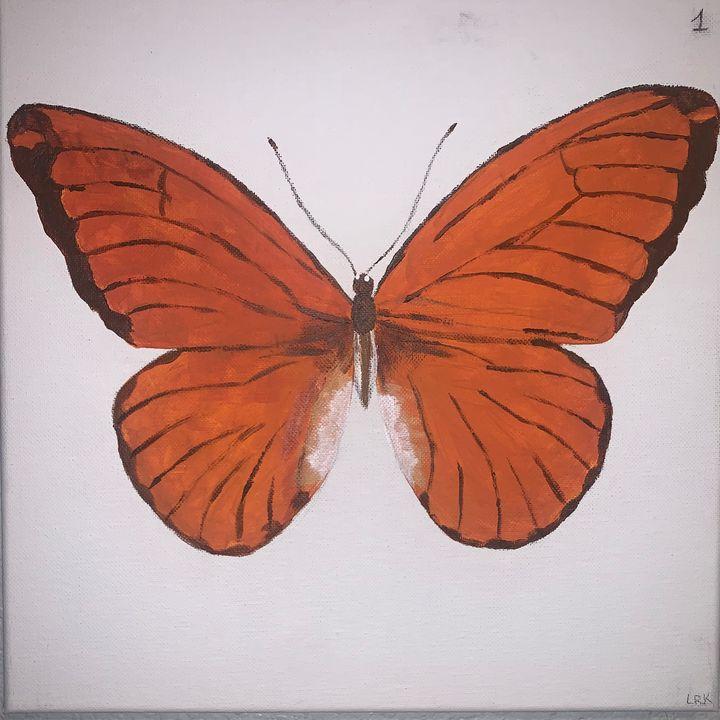 Orange Butterfly - art by lo