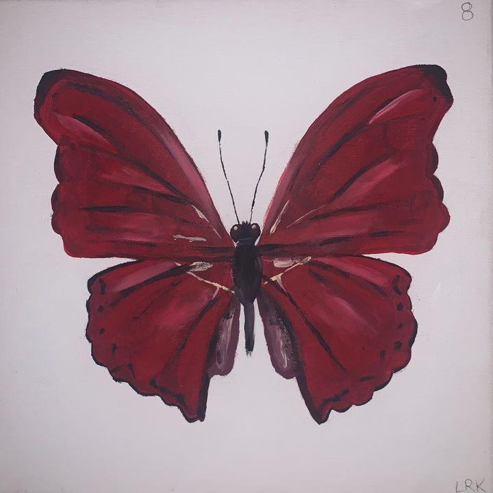 Maroon Butterfly - art by lo