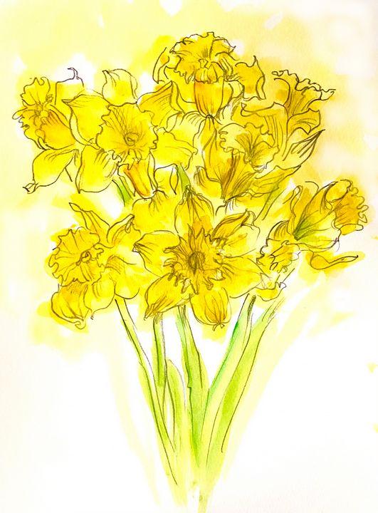 Daffodils - Barbara E Wyeth