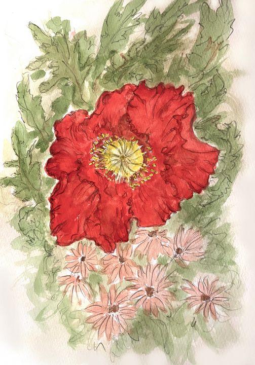 Poppy and Daisies - Barbara E Wyeth