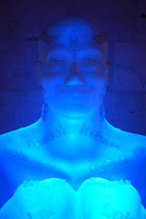 Blue Neon Girl - Fine Art