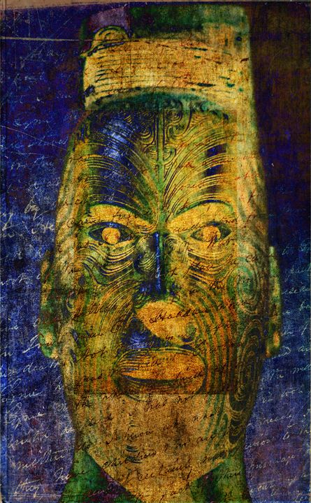 Ferocious Maui Warrior - Fine Art