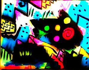 Neon Cat Totem