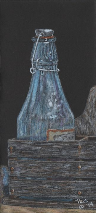 Bottle of Blue - Pencils by Pris