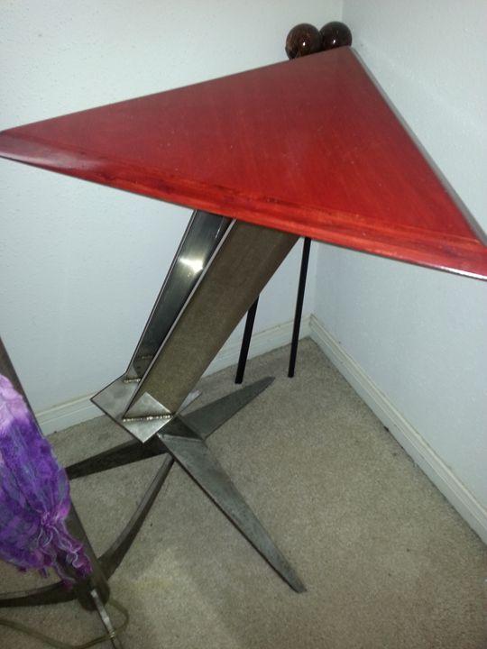 Wood and Metal Table - Hendrix Creations by John Hendrix