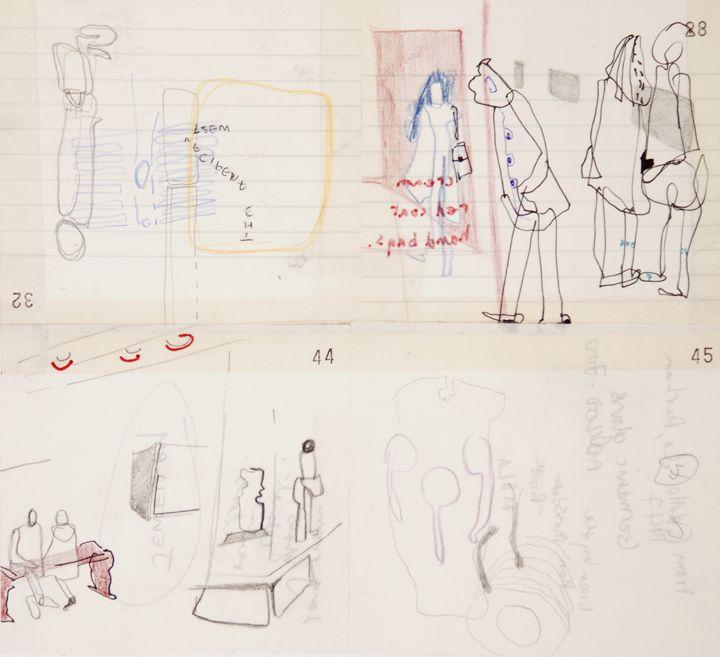 Sketches of museum watching. - Fung Ye Tsang