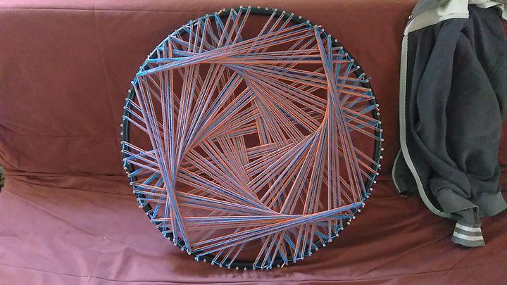 Psquaredelia, Original string art - Net of Indra