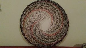 Spiral Impact, Original string art