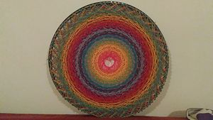 Way of Rainbow, Original string art