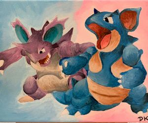 Nidoking and Nidoqueen