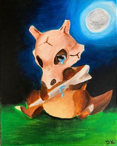 Sad Cubone Painting