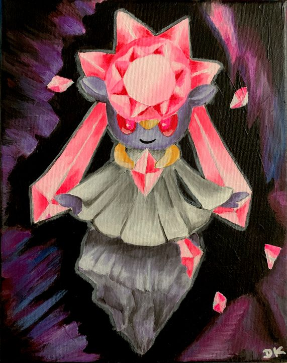 Diancie Painting - Pokemon On Canvas