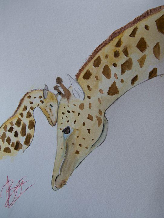 Giraffe love - Barby´s art