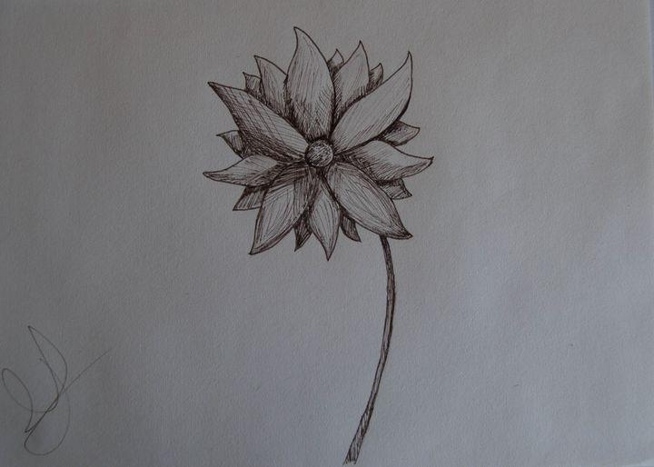 Sepia flower - Barby´s art