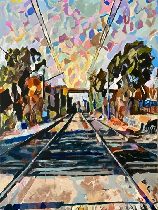Tracks - Ezra Bejar Art Studio