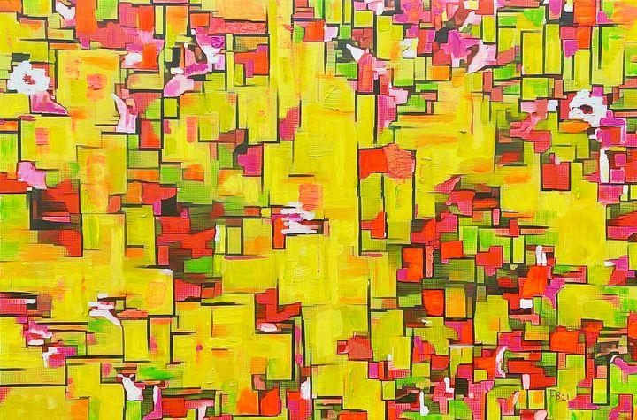 Composition with van Gogh Flowers - Ezra Bejar Art Studio