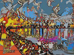 Amanecer en el Puerto - Ezra Bejar Art Gallery