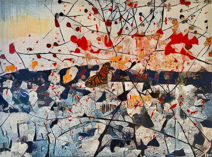 A Buterrfly in the Intricate Field - Ezra Bejar's Art Studio