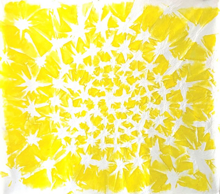 Yellow Spiral - Ezra Bejar Art Studio