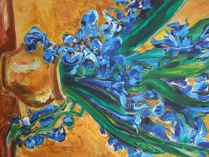 Irises after Van Gogh