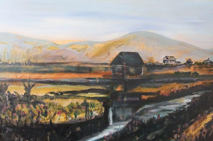 Farm house landscape after Vincent. - Cjm