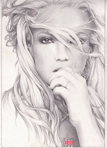 Portrait Britney Spears A4