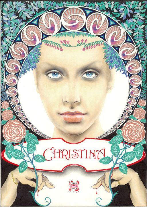 Portrait Christine Aguilera - UniqueCollectionBali,Russian,French&CelebrityPortr
