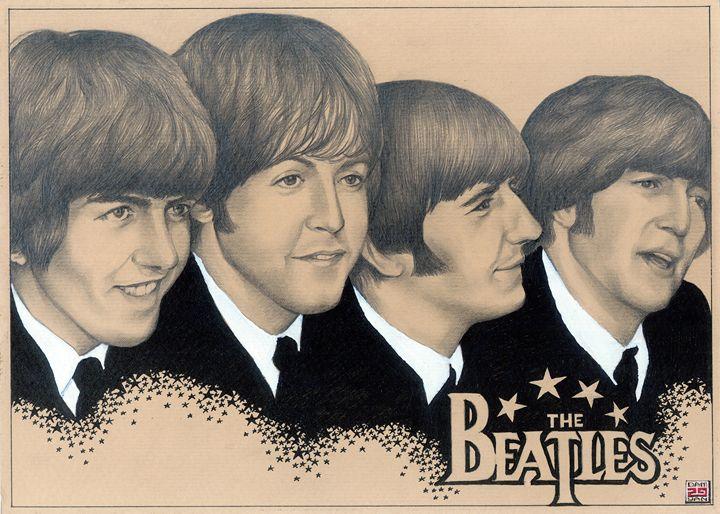 Portrait The Beatles - UniqueCollectionBali,Russian,French&CelebrityPortr