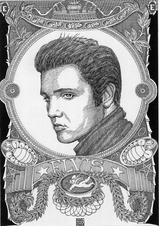 Portrait Elvis - UniqueCollectionBali,Russian,French&CelebrityPortr