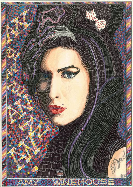 Portrait Amy Winehouse - UniqueCollectionBali,Russian,French&CelebrityPortr