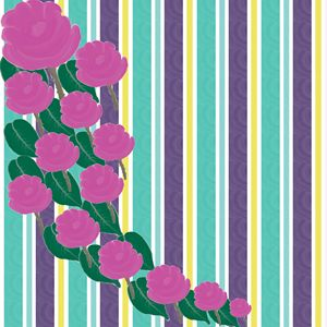 Decorative Roses and Stripes