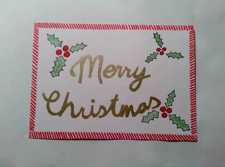 Christmas handmade postcard - Romana crafts