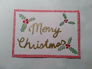 Christmas handmade postcard