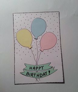 Handmade birthday postcard